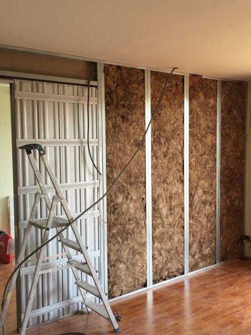 installation cloison interieur